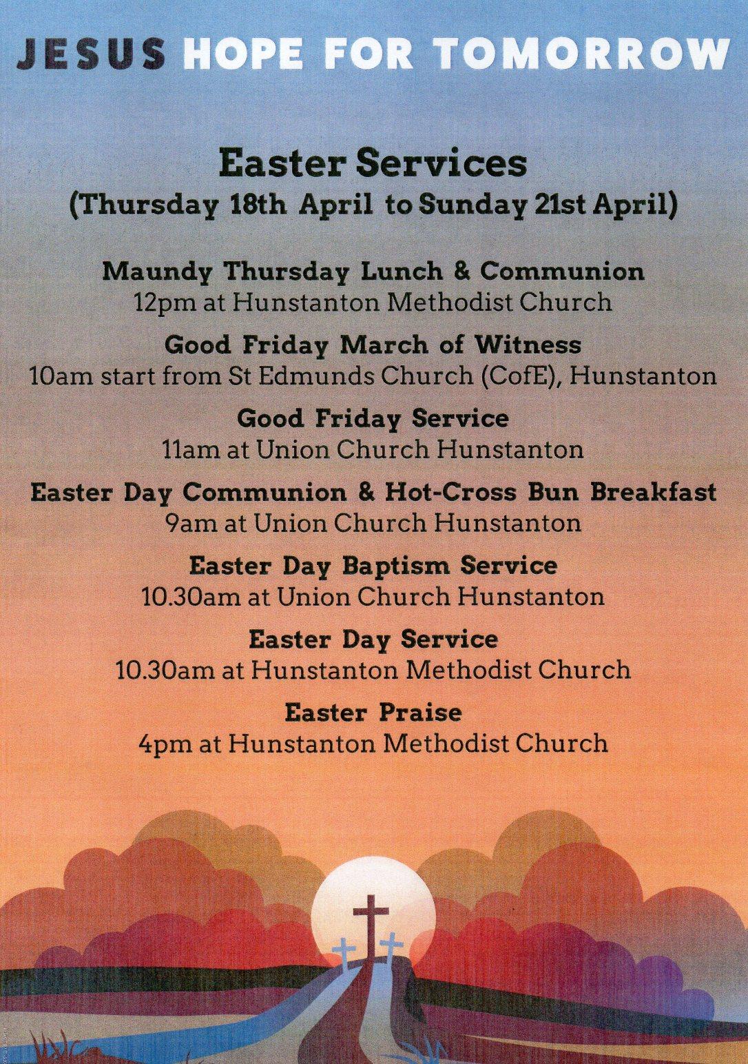 Hunstanton Easter Services 2019